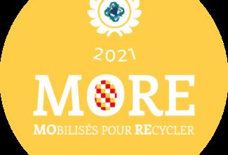 Certificat d'attribution Label More 2021 : Économie circulaire avec l'intégration de plastiques recyclés